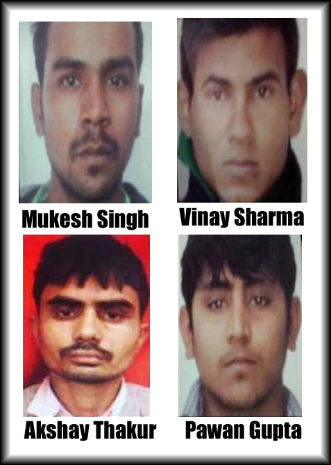 The four men convicted in the Delhi gang-rape case