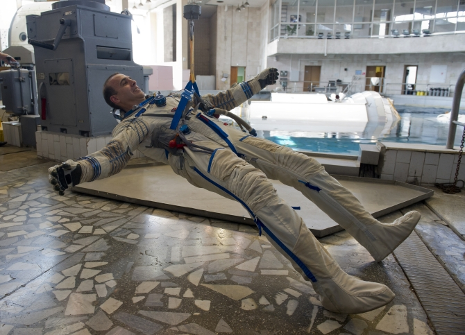 NASA astronaut Rick Mastracchio attends a training exercise at the Star City space centre outside Moscow, August 7. Mastracchio is scheduled to be part of a mission to the International Space Station that will launch in November 2013.