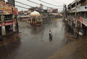 Empty streets in Muzaffarnagar during the riots