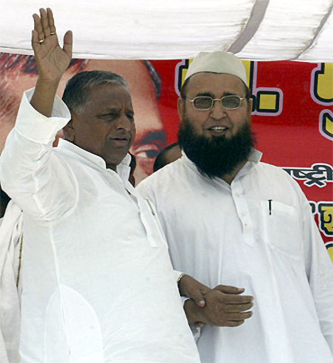 Mulayam Singh Yadav at an event