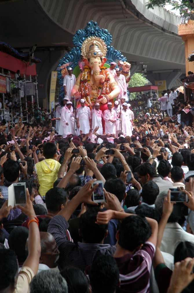 The Lalbaugcha Raja idol will be immersed at Girgaum Chowpatty in south Mumbai in the wee hours of Thursday