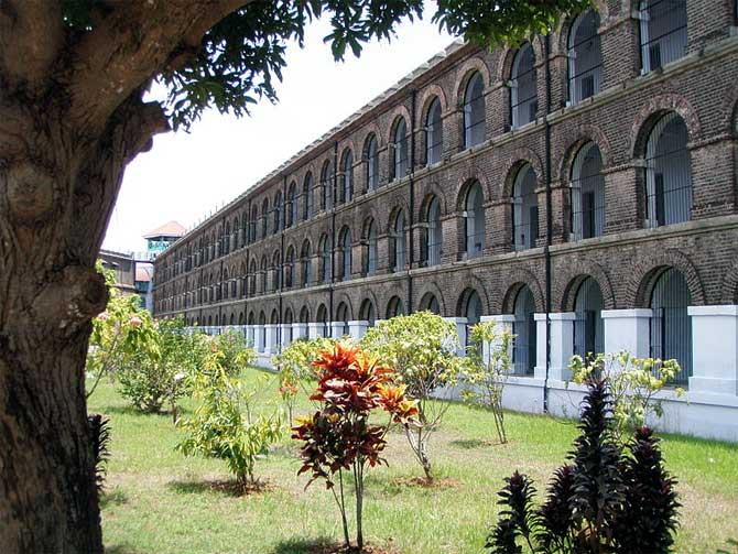 The Cellular Jail where many freedom fighters were imprisoned by the British.