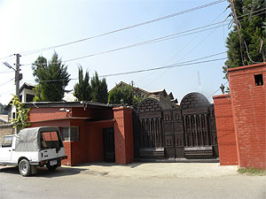 Mirwaiz Umar Farooq's residence at Nagin Lake, Srinagar