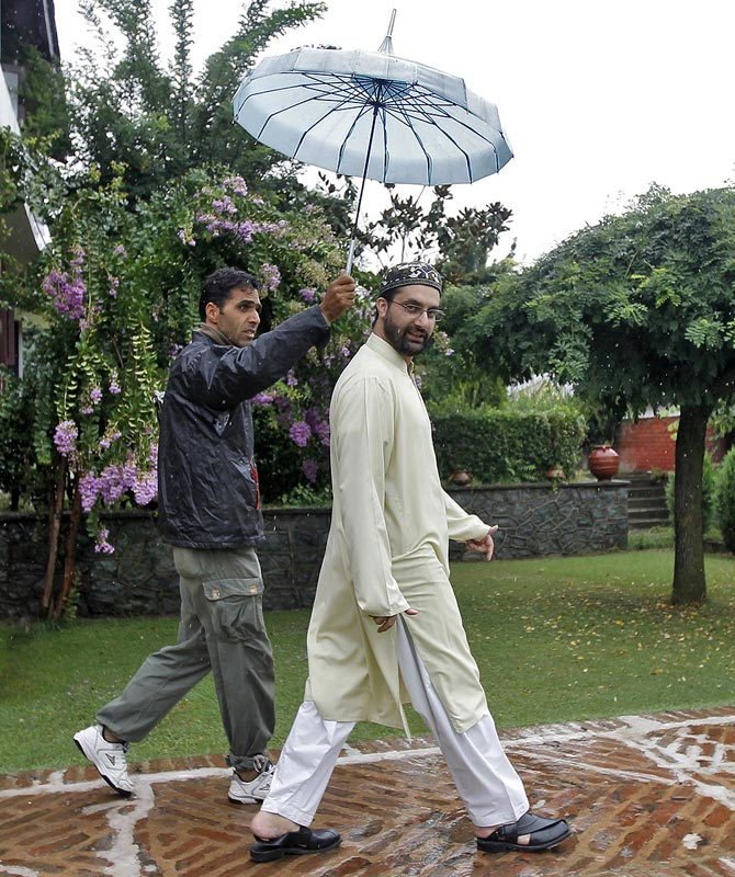 Mirwaiz Umar Farooq at his residence