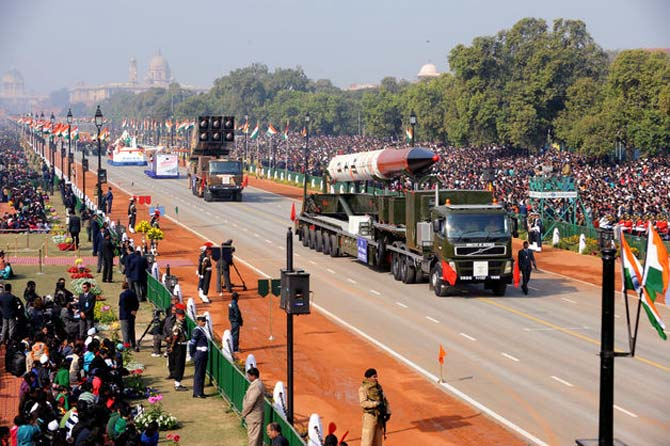 Indian Army displays Agni V at the Republic Day parade