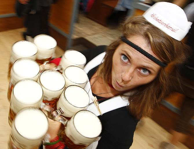 PHOTOS: At world's largest BEER party... CHEERS!