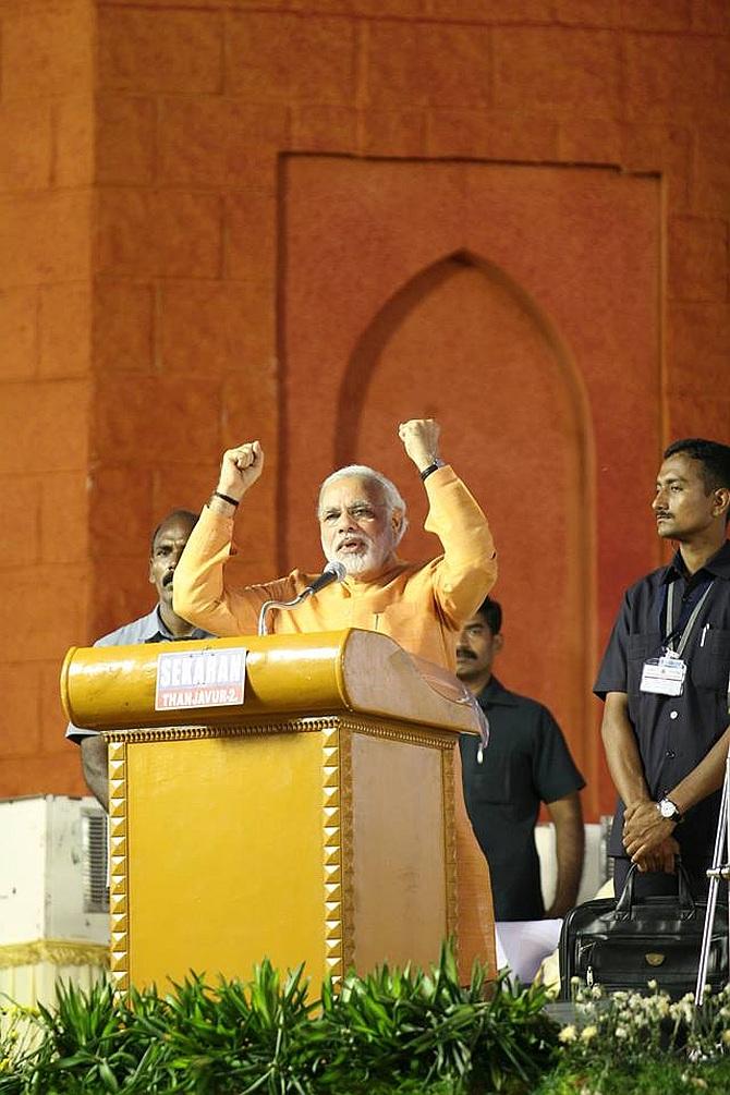 Gujarat Chief Minister Narendra Modi in Trichy