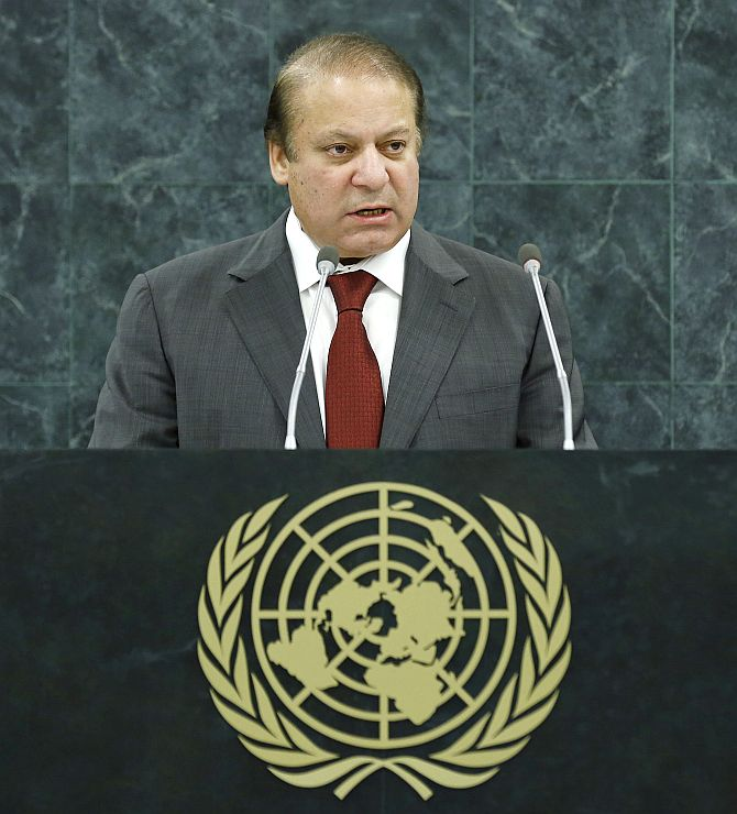 Pakistan Prime Minister Nawaz Sharif addresses the general debate of the 68th session of the General Assembly.