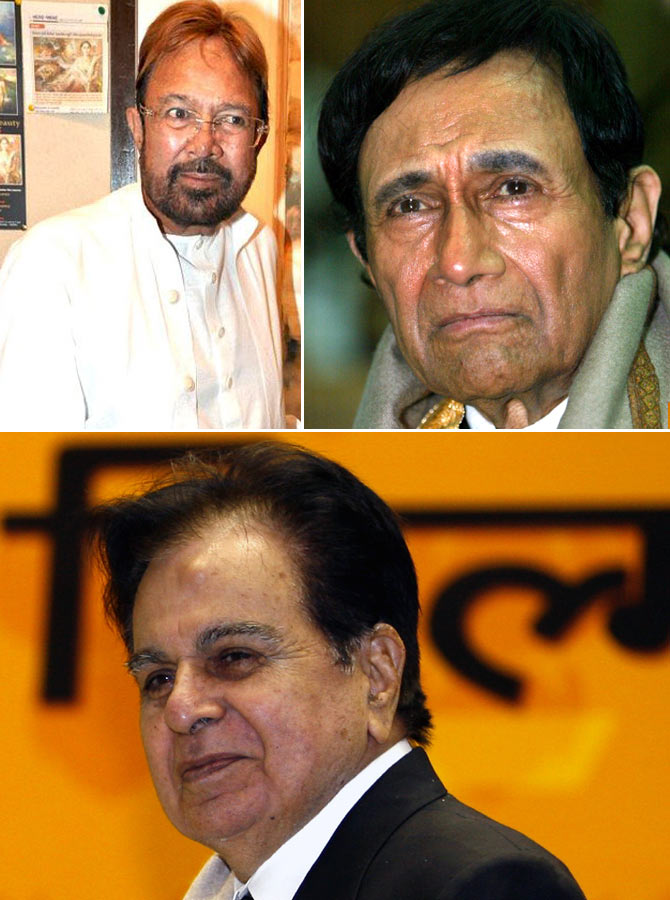 Veteran actors Rajesh Khanna, Dev Anand and Dilip Kumar