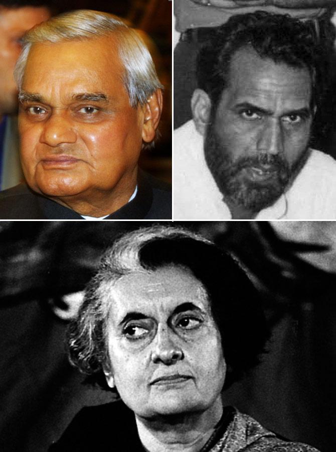 Former PMs Vajpayee, Chandra Shekhar and Indira Gandhi