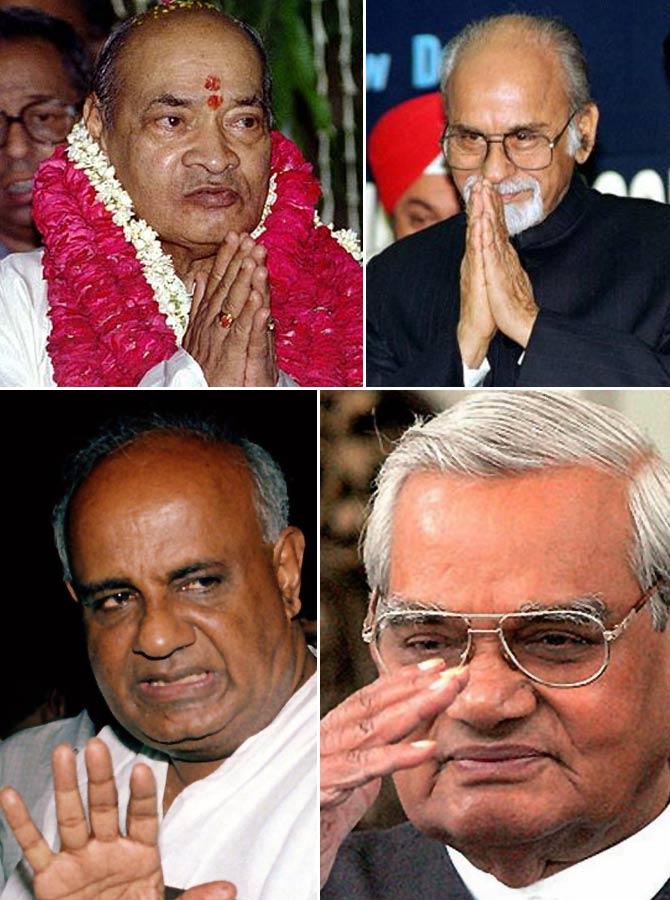 Former PMs Narsimha Rao, I K Gujaral, Deve Gowda and Vajpayee