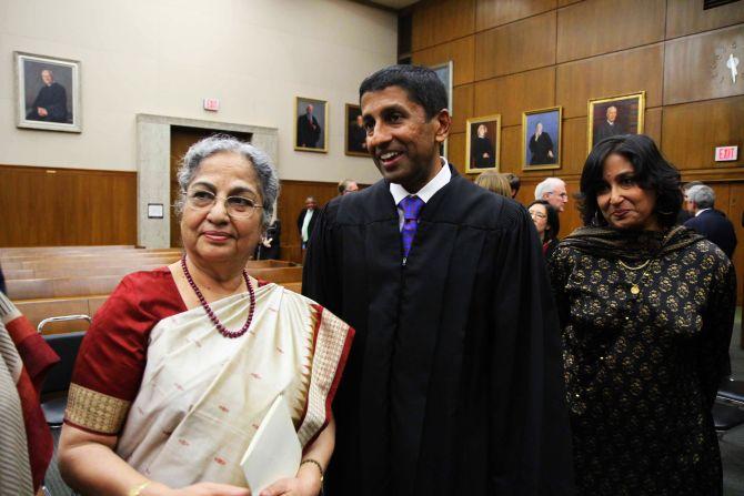 Sri Srinivasan with Gursharan Kaur and his sister Srija Srinivasan