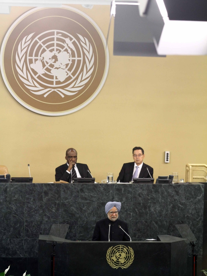 Dr Singh addresses the 68th United Nations General Assembly