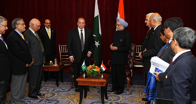 Stop ceasefire violations, terror from Pak soil: PM tells Sharif