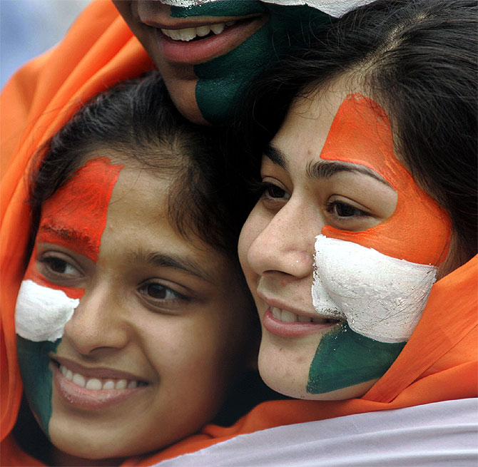 A file photo of Indian cricket fans at a match in Kolkata.