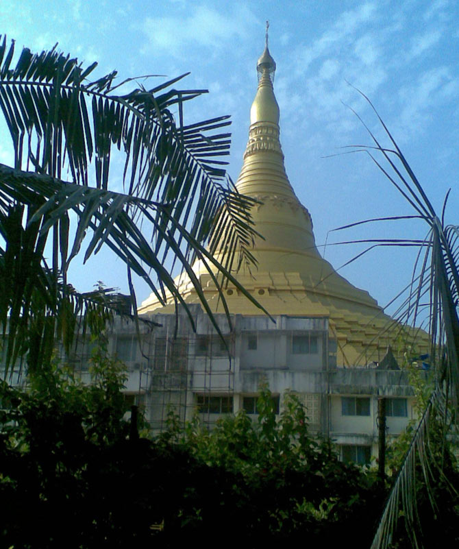 Global Vipassana Pagoda at Gorai, outside Mumbai