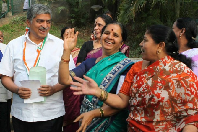 Bengaluru desperately needs a change and the change is you, Shanta, a local resident, told Nandan Nilekani.