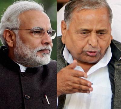 Narendra Modi and Mulayam Singh Yadav