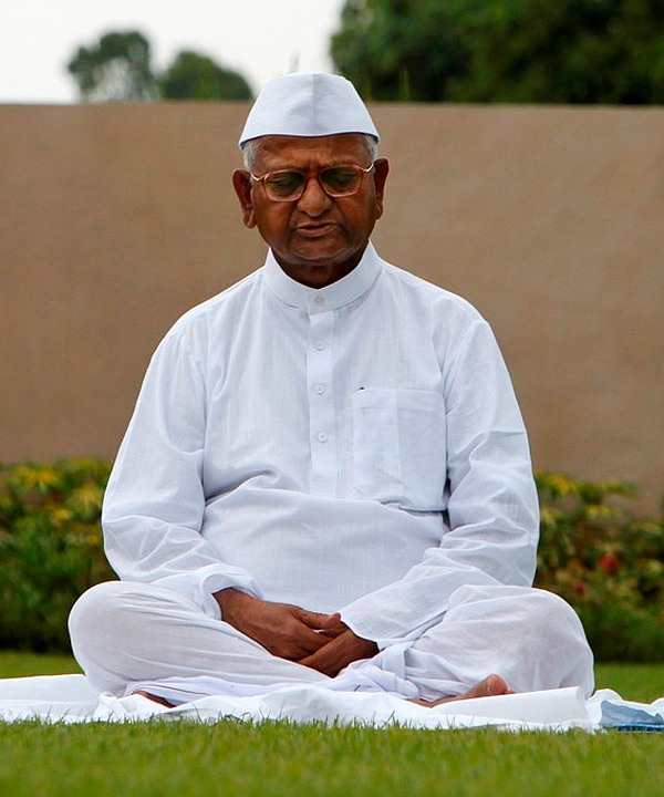 Anti-corruption crusader Anna Hazare