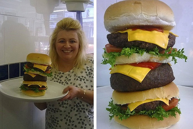 You can have this 10,000-calorie burger for 'free'!