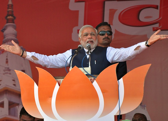 BJP and co will sweep Hindi heartland: Poll