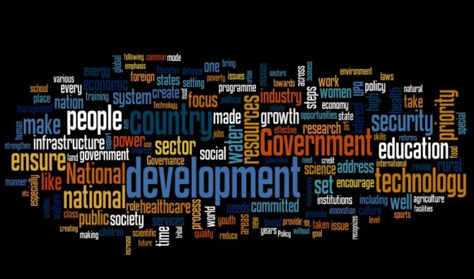 BJP manifesto buzz words: Development, infrastructure and governance