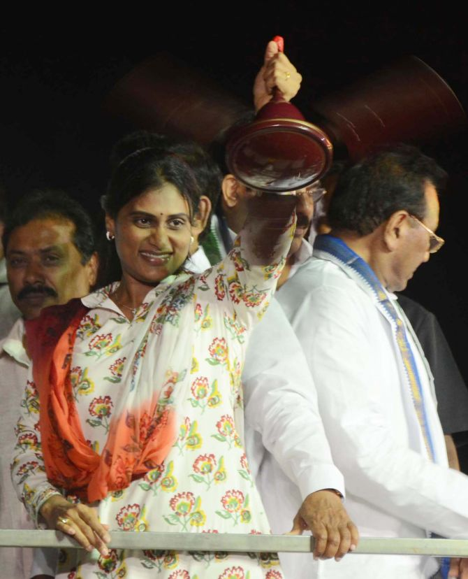 YSR Congress chief Jagan Mohan Reddy's sister YS Sharmila