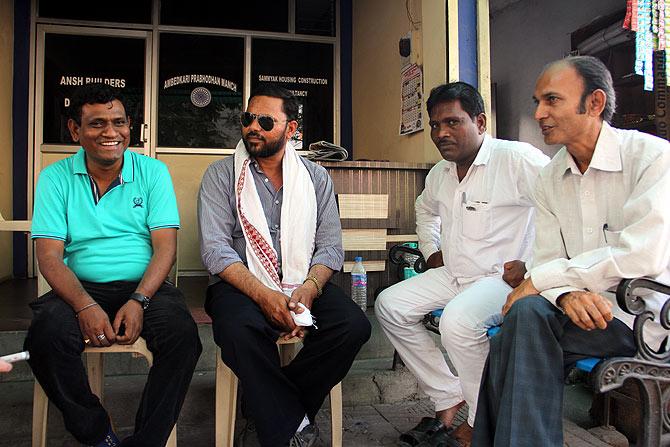Some of Indora's Buddhists working for change, left to right: Sunil Meshram, Sanjay Meshram, Gautam Patil, Naveen Shahare.