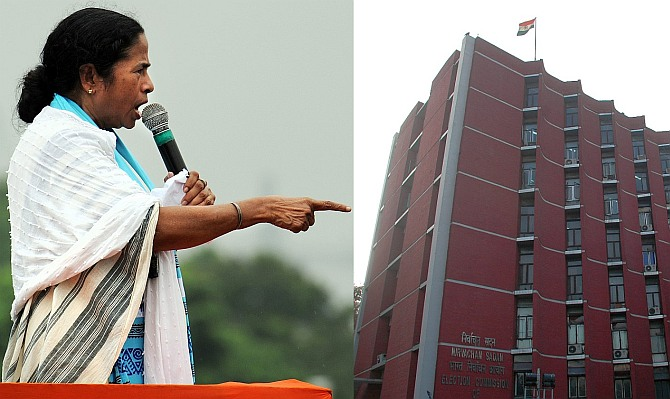 Mamata gives in to EC ultimatum; 7 officials to be transferred