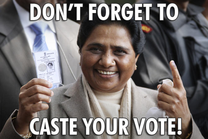 Poll meme of the day: Mayawati's vote appeal