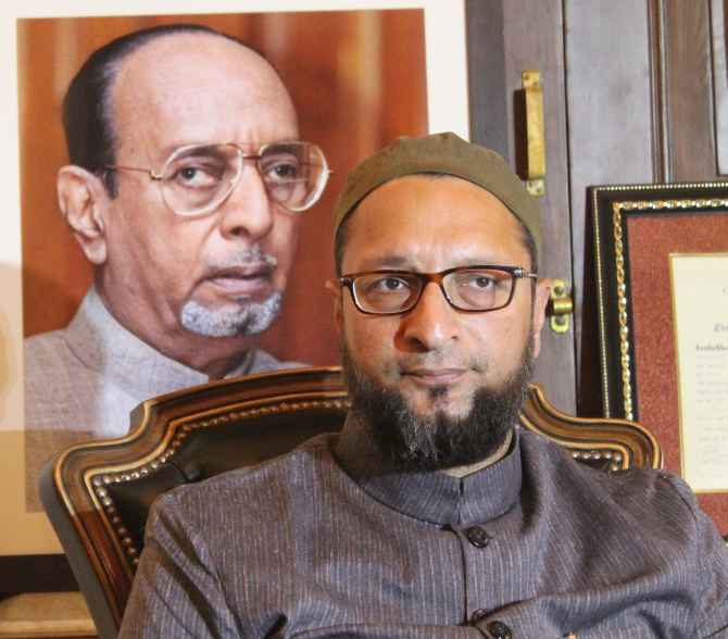 Asaduddin Owaisi speaks to mediapersons in Hyderabad