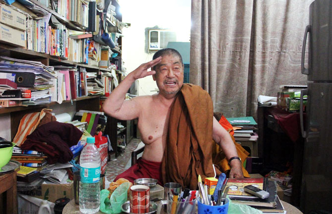 Japanese-born Buddhist monk Surai Sasai has lived in India for more than 46 years.