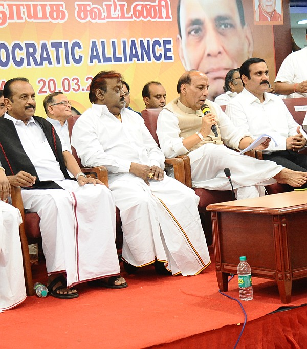 The BJP hopes scattered votes of all the six Tamil Nadu parties will come together to ensure the victory in at least half-a-dozen of the state's 39 seats.