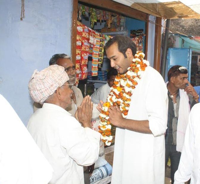 Mohd Azharuddin's son Mohd Asaduddin campaigns for his father at Tonk- Sawai Madhopur