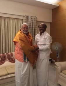Narendra Modi with Rajnikanth