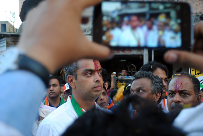 South Mumbai Congress MP Milind Deora in Colaba.