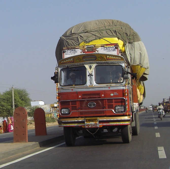 The money is transported in gunny sacks, mostly on trucks carrying some other material. Photograph used only for representational purposes.