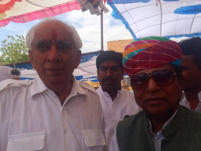 Jaswant Singh with former Union minister Yogendra Makwana.