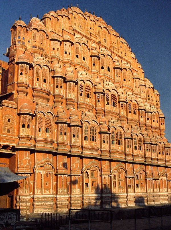 Jaipur's famous tourist destination, the Hawa Mahal.