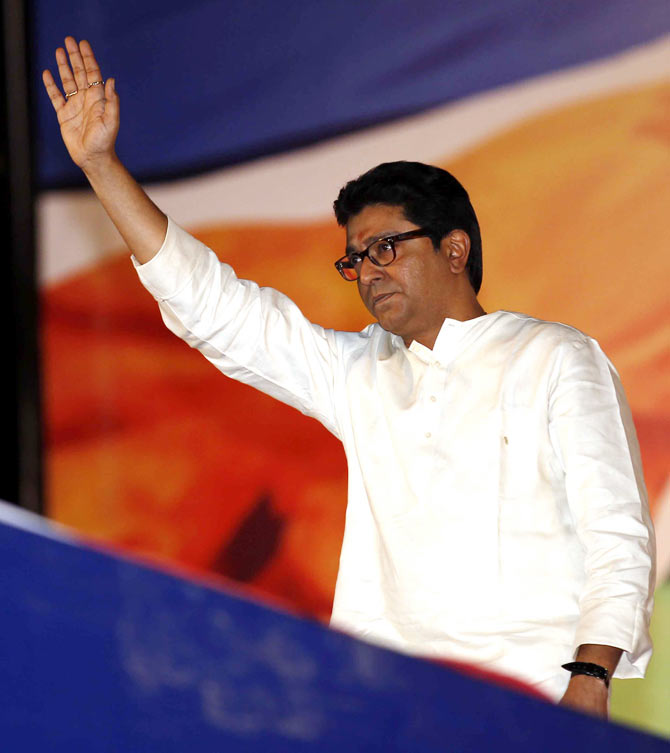 Raj Thackeray, founder-president of the Maharashtra Navnirman Sena.