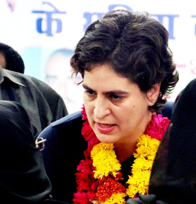 Priyanka Gandhi during her campaign in  Rae Barel