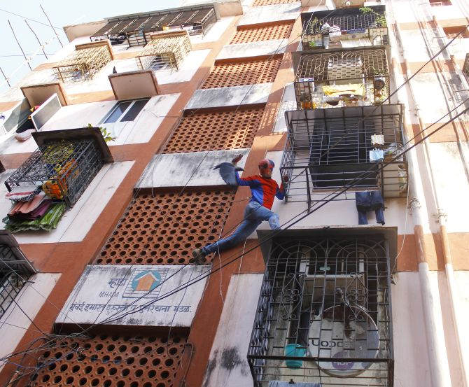 Gaurav says people like it when he climbs their buildings and meets them through their window while campaigning.
