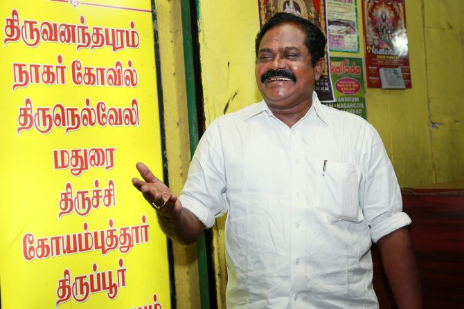 But not everyone thinks the DMK will win this time. A proprietor of a travel agency in Egmore felt the AIADMK will sweep the polls in Tamil Nadu.