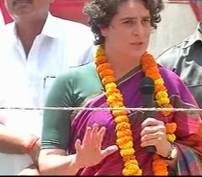 Priyanka's jibe at Modi: Concentration of power in one person dangerous
