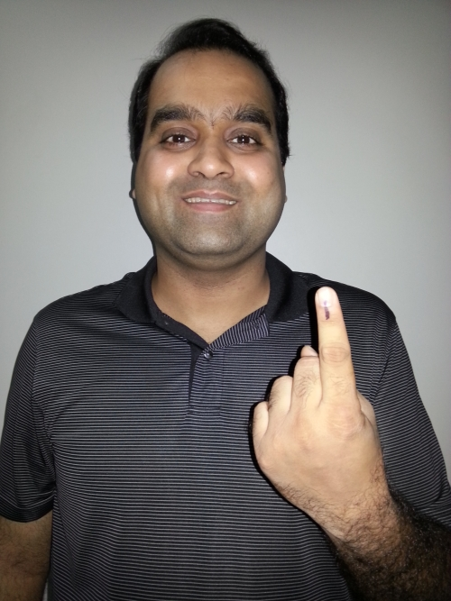 Mihir Govikar became a first time voter at 29