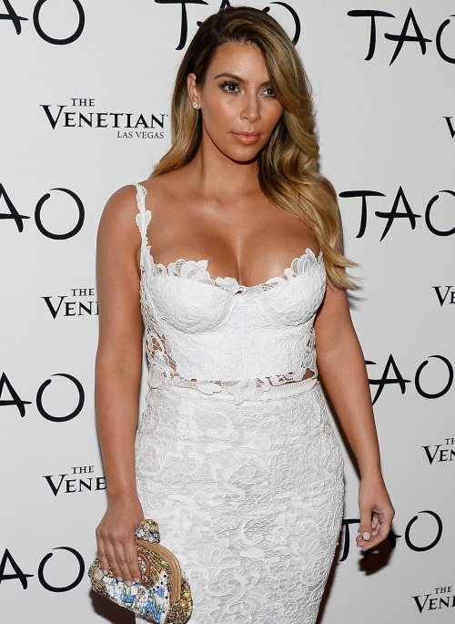 Kim Kardashian arrives at an award function
