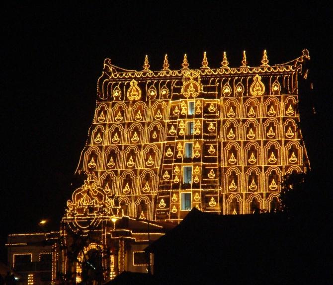 Sree Padmanabhaswamy Temple in Thiruvananthapuaram, Kerala