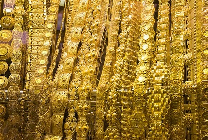 Treasure from the underground vaults of the Padmanabhaswamy Temple