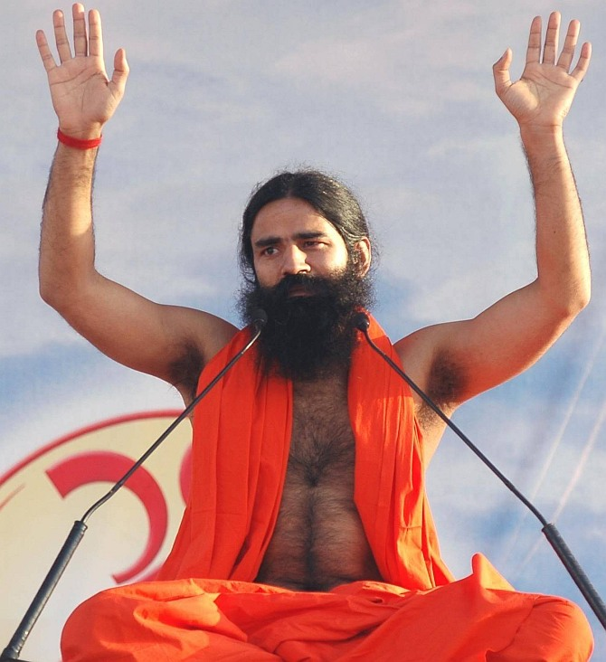 Ramdev booked for Dalit honeymoon remarks