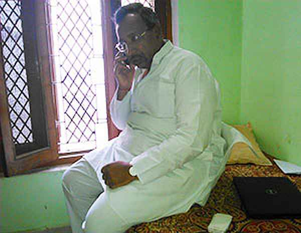 Ajay Aggarwal at his home in Rae Bareli, which doubles up as his office.